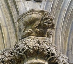 """The Selby """"imp"""" (Kniphofia) Tags: imp selbyabbey stonework carving"""