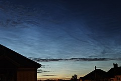 Noctilucent Cloud 23rd June 2018 (Sarah and Simon Fisher) Tags: nlc noctilucent nightshining nightsky nightskyphotography clouds rare beautiful magnificent astronomy astrophotography canon 600d cloudporn bromsgrove worcestershire uk urban lp