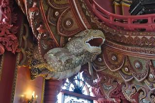 Dragon sculpture in the Erawan museum in Samut Phrakan province near Bangkok, Thailand