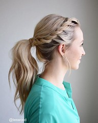 Rope braid into a wrapped ponytail (nididchy) Tags: hairstyles for medium length hair short long school millennial viking beard l mens fashion style jewelry i tattoos sunglasses glasses sensod | diy home decor mehndi designs pallets health hairstylecom try haircuts