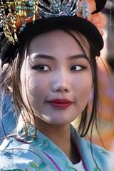 Cheek pattern (Jean Ka) Tags: nouvelanchinois chinesichesneujahr chinesenewyear frau woman femme gesicht face visage augen yeux eyes portrait maquillage schminke makeup paris france frankreich