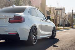 BMW M240i on Beyern Ritz Gunmetal Brushed Face - rotary forged wheels - 8 (tswalloywheels1) Tags: lowered hr springs white bmw m240i m235i 2series f22 beyern ritz rotary forged flow form monoblock staggered concave split 5spoke aftermarket wheel wheels rim rims alloy alloys