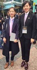 Kaien Bespoke (bof352000) Tags: woman tie necktie suit shirt fashion businesswoman elegance class strict femme cravate costume chemise mode affaire