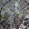 Chicago, Navy Pier, Chicago Flower & Garden Show, Decorative Metal Wheel (Mary Warren 10.6+ Million Views) Tags: chicago navypier chicagoflowergardenshow gardendecoration wheel metal circle round lines curves diagonals