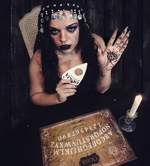Here's 5 rules that u must obey, Before u can play, So you don't become a ghouls next prey, 1.never use the Ouijaboard if you think it's just a game 2.never use it alone 3. Never use it in a cemetery  4. Never leave the planchette on the board when not in (sabrina1234421) Tags: beautiful fortuneteller ouijaboard seduce dream emo creepy freak horror dark art fortune ouija gypsy inspiration eyecandy twisted creep photography makeup bodypainter poet gothic queen seductive sex facepaint poem wetdreams artprints