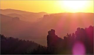 Goldener Morgen im Elbsandstein