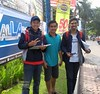 Java East-Malang Traffic Survey 20171209_093244 LG (CanadaGood) Tags: asia asean seasia indonesia indonesian java eastjava jawatimur malang sign advertising people person canadagood 2017 thisdecade color colour cameraphone javanese green blue red