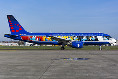 BEL_SN_Aerosmurf_A320_OOSND_BRU_April_2018 (Yannick VP) Tags: civil commercial passenger pax transport aircraft aeroplane jet jetliner airliner sn bel brusselsairlines brussels airlines airbus a320 320200 oosnd aerosmurf smurfs comics special livery paint belgianicons airport bru ebbr belgium be europe eu april 2018 airside taxi planespotting planespotter airplanespotting aviation photography