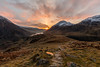Decending into a sunrise over Llyn Ogwen (Angus Goosey Cogan) Tags: 1635 5dmkiii angus atmosphere canon cogan georgeous hills landscape light llanberis llynidwal llynogwen mountain pink pontpenybenglog scenic sky snowdonia summer sunrise sunset wales wideangle ygarn