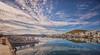(214/18) El pueblo más bonito de Manorca (Pablo Arias) Tags: pabloarias photoshop photomatix capturenxd españa cielo nubes arquitectura barca mar agua mediterráneo puerto fornells menorca