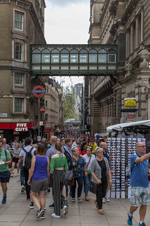 Pedestrian area at Leicester Square, London