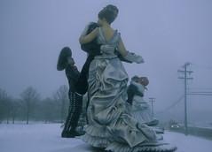 Sculpture Garden 15 (stevensiegel260) Tags: sculpture statue sculpturegarden newjersey snow winter snowstorm blizzard