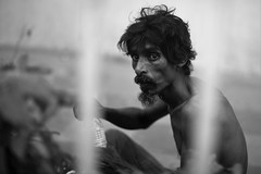 Ratan, the sick man (N A Y E E M) Tags: ratan homeless vagabond sick portrait friday afternoon street fence norahmedroad chittagong bangladesh carwindow today tb patient
