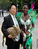 Dr. Takeshi Yamada and Seara (Coney Island sea rabbit). Brooklyn, New York. Brooklyn Labor Day Parade. West Indian Day Parade, Carnival    20160905Sun DSCN7638=p0010C2 (searabbit30) Tags: takeshiyamada fineartexhibitions museumcollections famous japanese japaneseamerican artist osaka tokyo japan tv painting sculpture photography graphicdesign sideshow freakshow banner gaff performance fashiondesign fashion tophat jabot jewelrydesign victorian gothic goth steampunk dieselpunk fashiondesigner playboy bikini roguetaxidermist roguetaxidermy taxidermist taxidermy specialeffect cabinetofcuriosities dimemuseum seara searabbit coneyisland mythiccreature cryptozoology cryptid brooklyn newyorkcity nyc newyork brooklynlabordayparadewestindiandayparade carnival