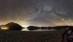 Die Milchstraße über dem Walchensee etwas später in der Nacht (Lars Melzer) Tags: hfb astrofotografie landschaftsfotografie landschaft milchstrase sterne nachtaufnahme kesselberg heimgarten herzogstand jochberg urfeld walchensee