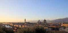 Sunset over Florence (rob.brink) Tags: florence italie italy firenze city urban architecture europe sunset italia duomo palazzo