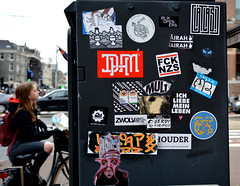 streetart in amsterdam (wojofoto) Tags: amsterdam nederland netherland holland graffiti streetart wojofoto wolfgangjosten stickers stickerart sticker wojo dhm