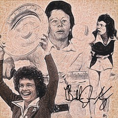 88 - Billie Jean King (Bob Smerecki) Tags: smackman snapnpiks robert bob smerecki sports art digital artwork paintings illustrations graphics oils pastels pencil sketchings drawings virtual painter 6 watercolors smart photo editor colorization akvis sketch drawing concept designs gmx photopainter 28 draw hollywood walk fame high contrast images movie stars signatures autographs portraits people celebrities vintage today metamorphasis 002 abstract melting canvas baseball cards picture collage jixipix fauvism infrared photography colors negative color palette seeds university michigan football ncaa mosaic