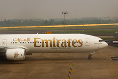 Emirates Boeing 777-300 A6-EMR taxiing towards Runway for its departure back to Dubai(DXB). (devjoshi3) Tags: emirates a6emr boeing 777 chennaiairport aircraft taxiing day