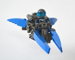 Ice Planet Speeder (Guido Martin-Brandis) Tags: lego ice planet speeder speedbike hover hoverbike spaceship space hoverscooter commander cold bear