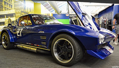 Miss Blue Belle (Chad Horwedel) Tags: missbluebelle 1963chevycorvettegrandsport chevycorvette chevy chevrolet corvette classic car airbrush corvettemuseum bowlinggreen