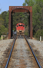 Hilton Bound (GLC 392) Tags: csx bridge bayline bayl bay line isrr indiana southern emd gp402 4041 3018 hilton tractor railroad railway train chatt job trees clouds competition competitors tree sky grass locomotive al albama dothan storm light alabama car forest
