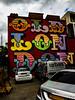 An Urban Exterior in Old London Town (Steve Taylor (Photography)) Tags: oldlondon urbaninterior mercedes art graffiti mural streetart contrast colourful cool uk gb england greatbritain unitedkingdom london car van cloud