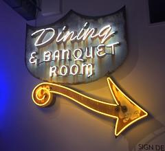 Dining (skipmoore) Tags: museumofneonart mona glendale diningbanquetroom arrow neon sign patina