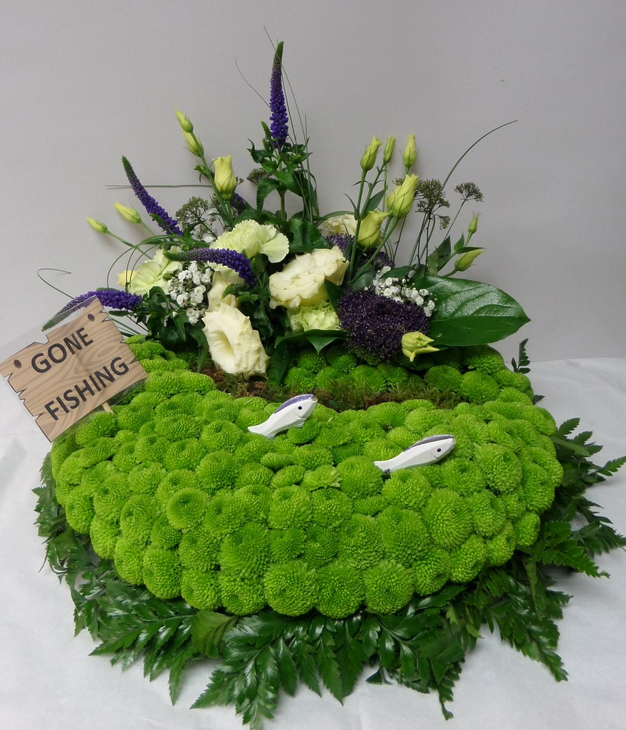 The worlds best photos of florist and funeral flickr hive mind gone fishing flowers by moonstones fareham florist tags funeralflowers sympathy funeral tribute izmirmasajfo