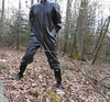 in the woods (lulax40) Tags: latex fetish overall gummianzug fetishist rubberist rubberboots gummistiefel hunter