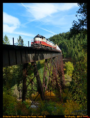 stma-pedee-id-10-9-2017a (funnelfan) Tags: train railroad railway shortline locomotive pnw pacificnorthwest trestle bridge maries idaho gp9