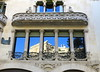 Picture Window:  Casa Lleó i Morera (1902-06), Passeig de Gràcia, Barcelona (Spencer Means) Tags: dwwg building house window balcony column capital stone carving carved facade façade modernisme modernist modernista dreta eixample barcelona catalunya catalonia spain lluísdomènechimontaner casalleóimorera casalleómorera blockofdiscord illadeladiscòrdia mansanadeladiscòrdia reflexion reflection
