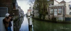 Dordrecht cityscape (film) - 3 (PaulHoo) Tags: pano panorama panoramic widescreen widelux wideluxf7 dordrecht city urban cityscape film analog 35mm 2018 reflection water building architecture house photographer