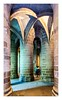 Couleur Locale (michel Kalff) Tags: color church pillar vault arch column cloister romanesque crypt entrance stonewall gothic tomb historical colorful