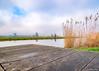 Landscape with windmills (✦ Erdinc Ulas Photography ✦) Tags: windmill blue clouds nederland netherlands focus landscape traditional culture grass mill windmills molen windmolen dutch holland panasonic reflection zaandam zaanse schans shelf reed