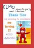 Sesame Street Birthday Favor Thank You 5x7 (maddieandmarry) Tags: sesamestreet elmo 2nd birthday party
