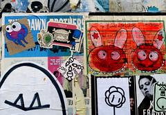 streetart in Hamburg (wojofoto) Tags: hamburg germany deutschland streetart pasteup wojofoto wolfgangjosten bunnybrigade wojo