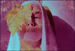 Otoño en el jardín (barbarabezina) Tags: selfportrait analog 35mm kodakproimage pentaxzxm doubleexposure homedeveloped film autumn barbarabezina