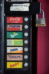 (Casey Lombardo) Tags: cokemachine vendingmachine vendingmachines coke cocacola pepsi sprite canadadry cactuscooler fanta squirt retro logos oldschool soda