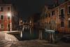 At night in Venice (Petra Wendt) Tags: venedig venice italien italy italia veneto nikon nikondf df night nacht longtimeexposure longexposure langzeitbelichtung unescoworldheritage venezia canale kanal nikkor28mmais wasser boot stadt gebäude