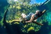 Kicking back in Cenote Jardin Del Eden (NickPolanszkyPhotography) Tags: nick polanszky underwater photography cenote tulum jardin del eden mexico model canon 5diii aquatica