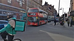 Nottingham City Transport Bus 416. (ManOfYorkshire) Tags: route44 gedling nottingham city transport nct bus buses deliveroo bike redline gas scania alexanderdennis enviro400 envirocity upmarket citycentre junction
