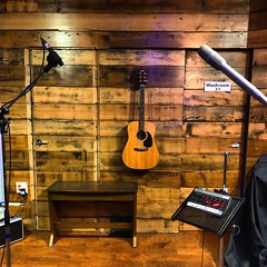 Framed Guitar (Pennan_Brae) Tags: musicproduction studiolife music guitarphotography musicphotography recordingsession recordingstudio microphone microphones recording musicstudio guitar acousticguitar
