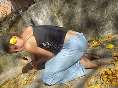 2099070290098220273ZooWzv_fs (paulswentkowski1983) Tags: dirty feet soles filthy strret calloused pitch black outdoor no shoes barefoot barefeet female