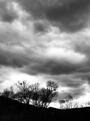 Wild clouds in black & white (anubis131) Tags: weather extremesky freudenbergerpiller anubis1301 abstrakt abstract mystic mystisch storm iphone7plus iphotographer schwarzweis bw blackwhite himmel sky wolken clouds