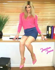 Pink & Blue (jessicajane9) Tags: tg crossdressing tgurl crossdress lgbt transgender feminization tv cd tranny xdress tansvestite m2f crossdresser trans tgirl