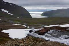 Day 4: First view of Lónafjörður fjord (Gregor  Samsa) Tags: iceland icelandic north deepnorth trek trekking track tracking backpacking trip journey adventure outdoors outdoor nature naturereserve scenic scenery walk walking hike hiking path footpath trail exploration summer hornstrandir