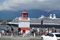 Brockton Point (wfung99_2000) Tags: brocktonpoint stanleypark cruise ship lighthouse bicycles vancouver britishcolumbia canada summer nieuwamsterdam hollandamerica seawall