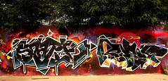 graffiti in Utrecht (wojofoto) Tags: utrecht nederland netherland holland grindbak hof halloffame graffiti streetart legalwall wojofoto wolfgangjosten spatie