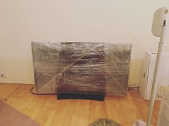 Wrap the TV they said. I wrap my heart around things, love I am walking away. #moving #leaving #packing